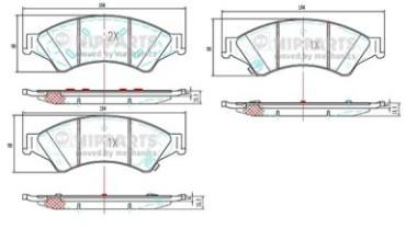 Колодки тормозные передние Nipparts N3603075N3603075