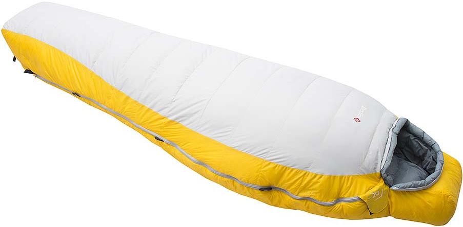 Мешок спальный Red Fox Yeti-20, цвет: желтый, светло-серый, левосторонняя молния, 203 x 81 см33812Серия теплых пуховых спальных мешков, рассчитанных на использование при очень низких температурах во время высотных альпинистских восхождений и зимних альпинистских экспедиций. Благодаря применению натурального гусиного пуха высочайшей степени качества (F.P. 700+) изделия обладают исключительными согревающими свойствами, отличаются эргономичностью и компактностью. Влагозащитное покрытие наружного материала дополнительно защищает спальные мешки от сырости. На капюшоне продуманы чувствительные шнуры, круглый и плоский, для регулировки в темноте.- материал: Nylon 30D*30D- подкладка: Nylon DP 37 g/m2- утеплитель: Waterfowl down (F.P. 700+) - диапазон температур: -1,6 .. -7,8 .. -25,8 (протестировано тестом EN 13537)- размер, см: Regular 203х81, XL long 213х83- вес, г: Regular 1430, утеплитель 700, XL long 1520, утеплитель 740Что взять с собой в поход?. Статья OZON Гид