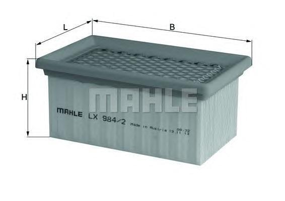 Фильтр воздушный Mahle/Knecht LX9842LX9842