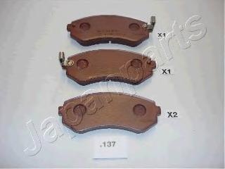 Колодки тормозные дисковые Japanparts PP137AFPP137AF