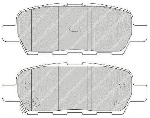 Колодки тормозные дисковые Premier Ferodo FDB1693FDB1693