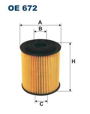 Фильтр масляный Filtron OE672OE672