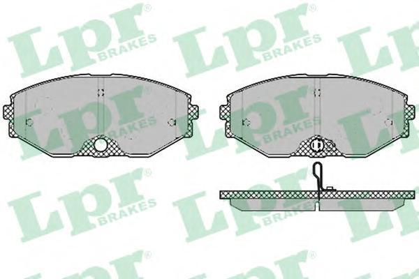 Колодки тормозные передние LPR / AP 05P135705P1357
