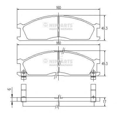 Колодки тормозные передние Nipparts J3601037J3601037