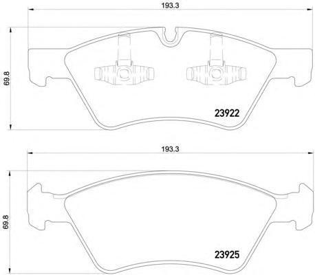 Колодки тормозные дисковые, комплект BEHR-HELLA 8DB3550120118DB355012011