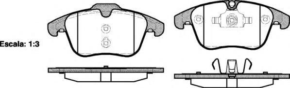 Колодки тормозные дисковые Remsa, комплект. 121900121900