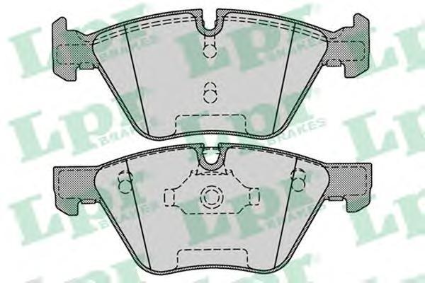 Колодки тормозные передние дисковые LPR / AP 05P127105P1271