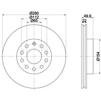 Диск тормозной Pro BEHR-HELLA 8DD355109561 комплект 2 шт8DD355109561