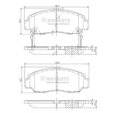 Колодки тормозные передние Nipparts J3604051J3604051