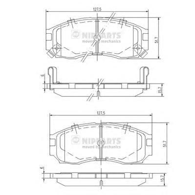 Колодки тормозные передние Nipparts J3605030J3605030