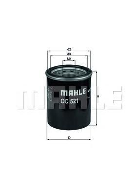 Фильтр масляный Mahle/Knecht OC521OC521