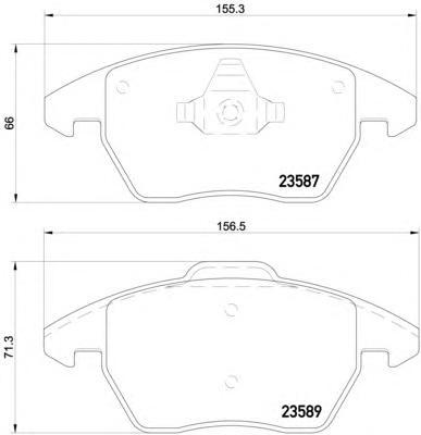 Колодки тормозные дисковые, комплект BEHR-HELLA 8DB3550145118DB355014511