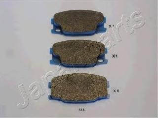 Колодки тормозные дисковые Japanparts PA514AFPA514AF