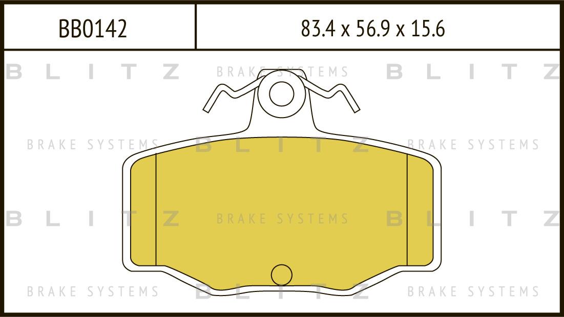 Колодки тормозные дисковые BLITZ автотовары BB0142BB0142