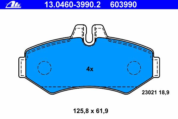 Колодки тормозные дисковые Ate 1304603990213046039902