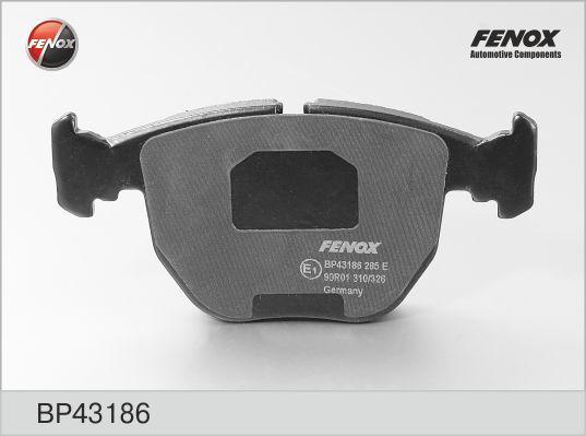 Колодки тормозные дисковые Fenox BP43186BP43186