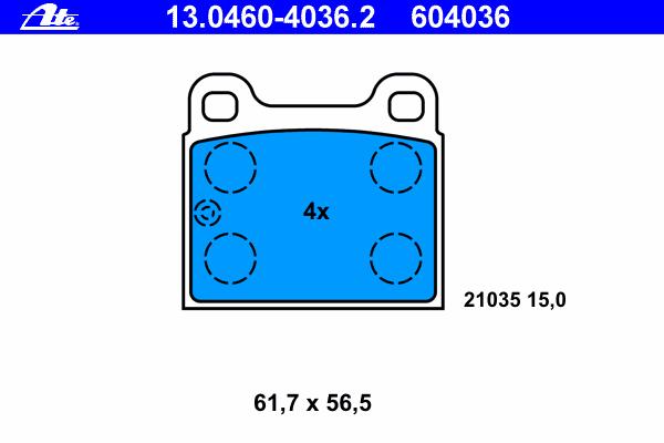 Колодки тормозные дисковые13046040362