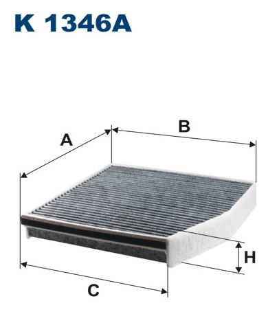 Фильтр салона угольный Filtron K1346AK1346A