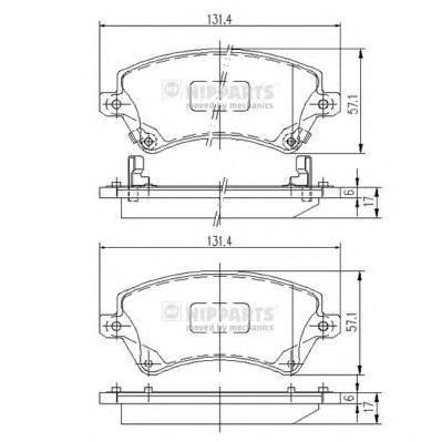 Колодки тормозные передние Nipparts J3602101J3602101