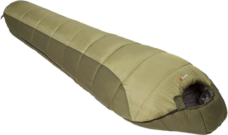 Мешок спальный Red Fox Explorer-40, цвет: темно-зеленый, левосторонняя молния, 215 х 90 см1054075Комфортный спальный мешок для треккинга, рассчитанный на использование при низких температурах. Мягкий синтетический двухслойный утеплитель создает отличную теплоизоляцию даже во влажных условиях. Удобный капюшон модели обеспечивает максимальное сохранение тепла. Предусмотрены петли для сушки. материал: Poly Diamond RS подкладка: P210 ponge форма: кокон утеплитель: 4 Hollowfiber Sil диапазон температур, °C: -8 .. -15,3 .. -36,5 размер, см: Regular: 205*80, XL long 215*90 вес, г: Regular 2300, XL long 2500