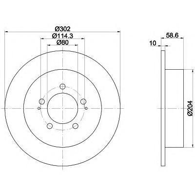 Диск тормозной задний Textar 92167003 комплект 2 шт92167003