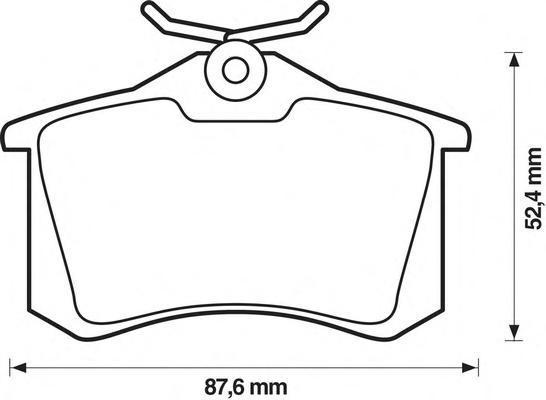 Колодки тормозные задние Jurid 571906J571906J