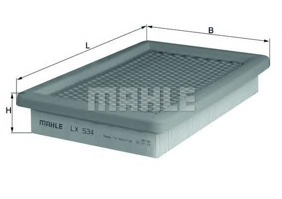 Фильтр воздушный Mahle/Knecht LX534LX534