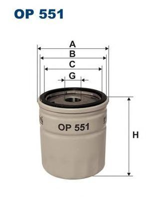 Фильтр масляный Filtron OP551OP551