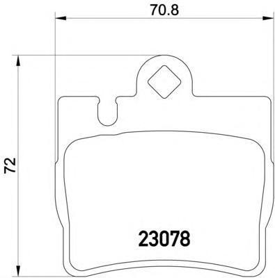 Колодки тормозные дисковые, 4 шт Textar 23078012307801