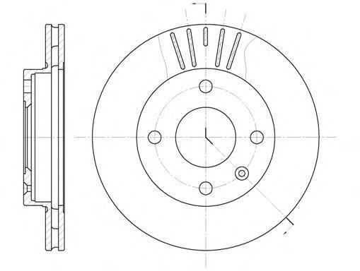 Диск тормозной передний вентилируемый Remsa 609610 комплект 2 шт609610