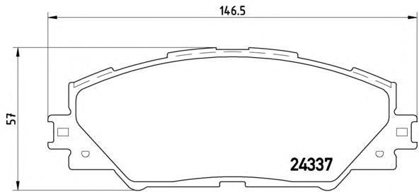 Колодки тормозные передние Brembo P83071P83071