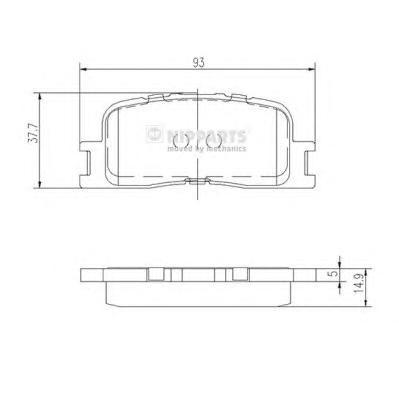 Колодки тормозные задние Nipparts J3612024J3612024