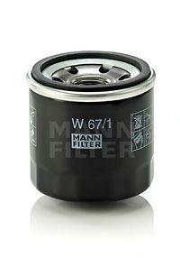 Масляный фильтр Mann-Filter W671W671