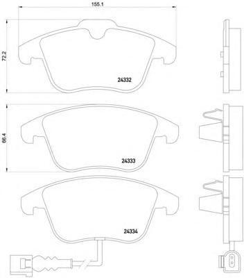 Колодки тормозные дисковые, комплект BEHR-HELLA 8DB3550140318DB355014031