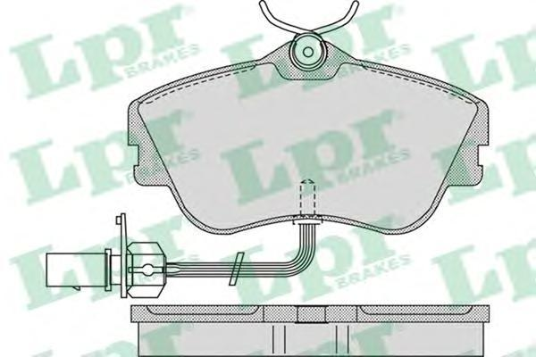 Колодки тормозные LPR / AP 05P97705P977