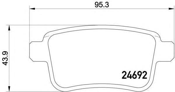 Колодки тормозные задние Textar 24692012469201