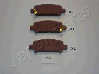 Колодки тормозные дисковые Japanparts PP702AFPP702AF