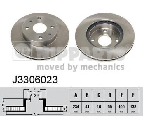 Диск тормозной передний Nipparts J3306023 комплект 2 штJ3306023