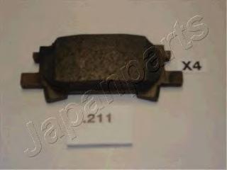 Колодки тормозные дисковые Japanparts PP211AFPP211AF