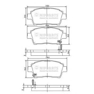 Колодки тормозные передние Nipparts J3602088J3602088