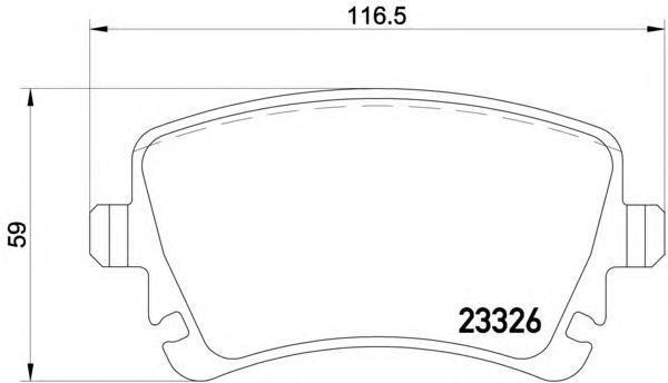 Колодки тормозные дисковые, комплект BEHR-HELLA 8DB3550115318DB355011531