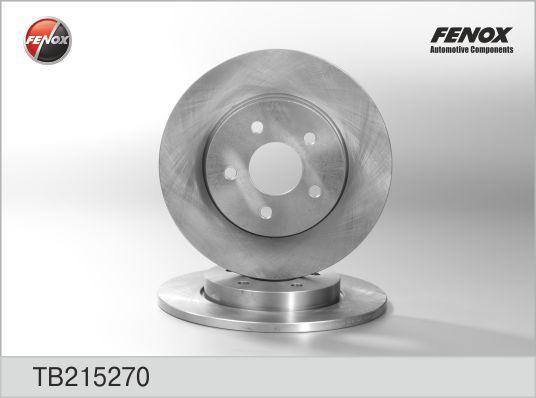 Диск тормозной Fenox TB215270TB215270