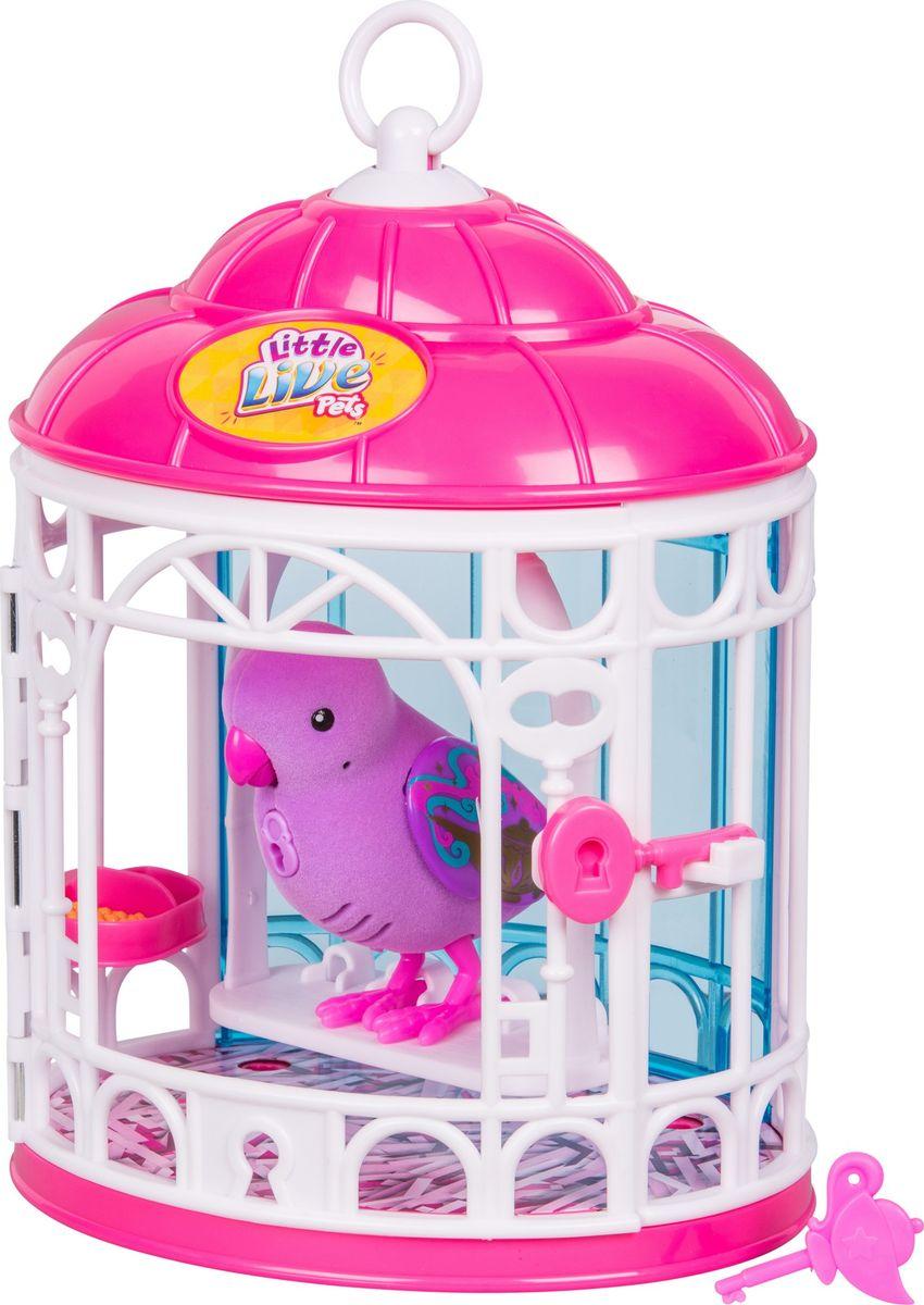 Little Live Pets Интерактивная игрушка Птичка в клетке цвет розовый - Интерактивные игрушки