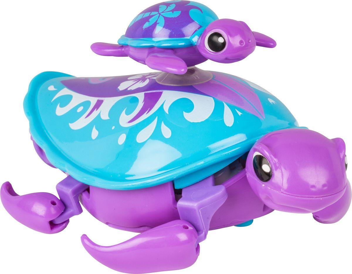 Little Live Pets Интерактивная игрушка Черепашка с малышом цвет фиолетовый черепашка little live pets в аквариуме