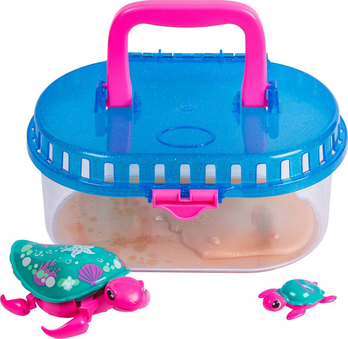 Little Live Pets Интерактивная игрушка Черепашка с малышом в аквариуме S2 черепашка little live pets в аквариуме