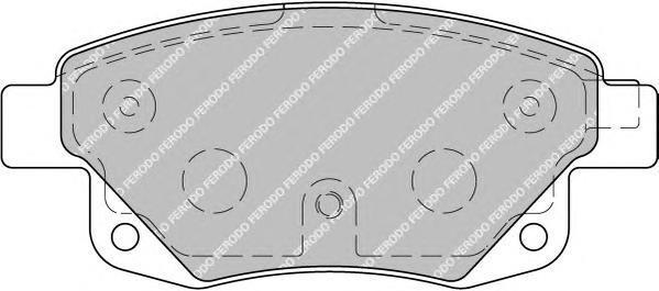 Колодки тормозные дисковые Premier Ferodo FVR1930FVR1930