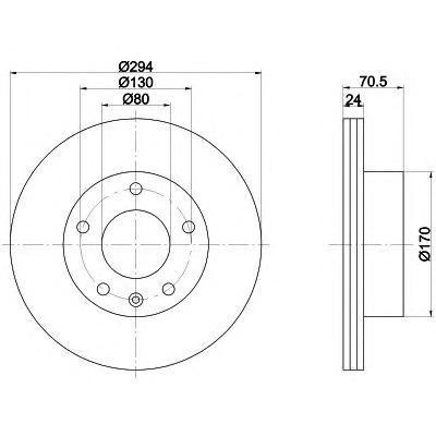 Диск тормозной передний Textar 92153400 комплект 2 шт92153400