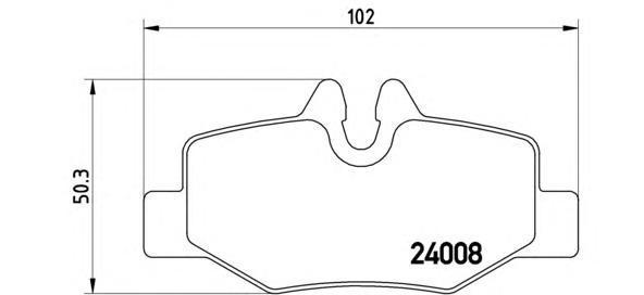 Колодки тормозные задние Brembo P50051P50051