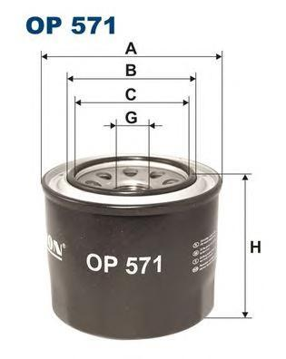 Фильтр масляный Filtron OP571OP571