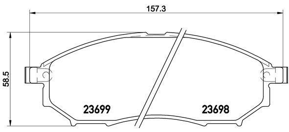 Колодки тормозные Brembo P56094P56094